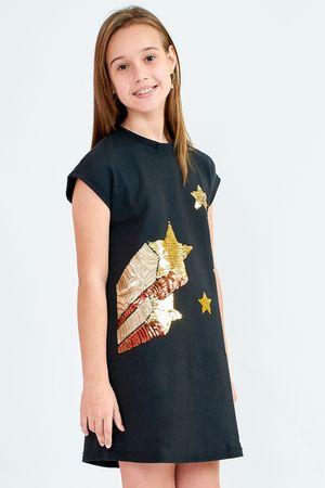 Vestido Curto Bana Bana Star de Moletom com Aplicação 2